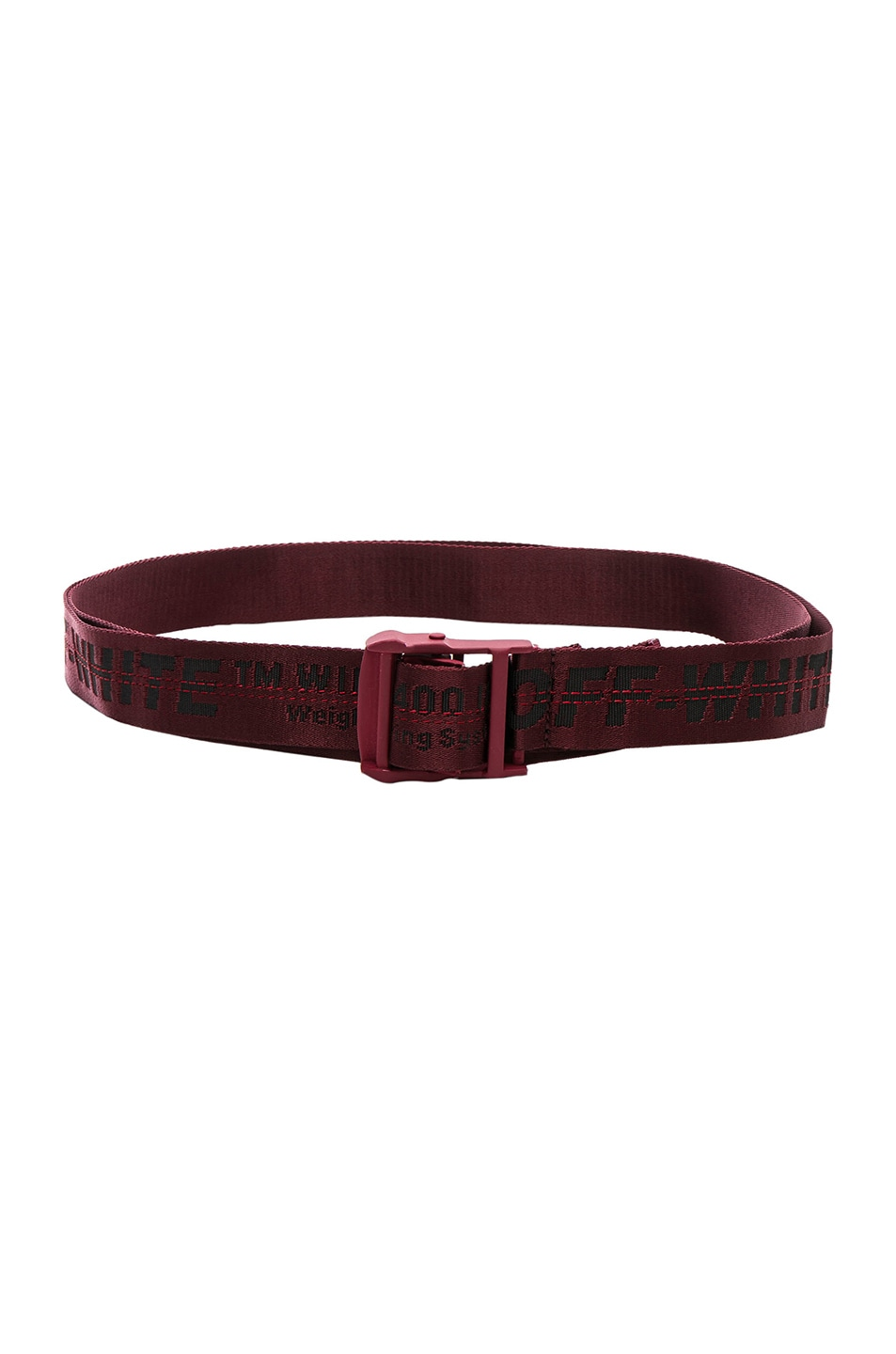 Off-White Belts OFF-WHITE CLASSIC INDUSTRIAL BELT IN RED