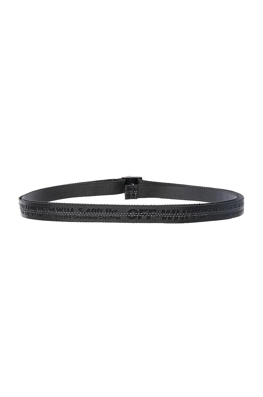 Image 3 of OFF-WHITE Mini Industrial Belt in Black & Black