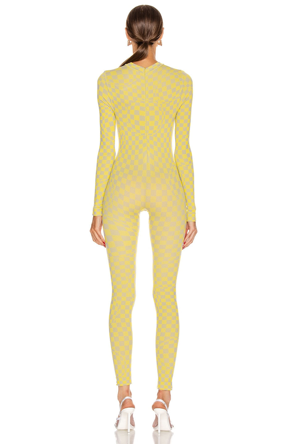 Image 3 of OFF-WHITE Bubble Check Jumpsuit in Yellow