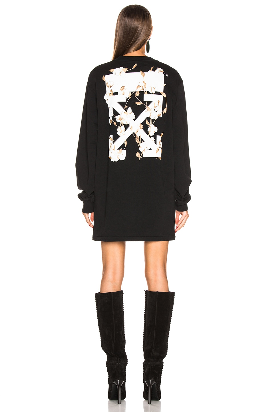 Image 3 of OFF-WHITE Crewneck Sweater Dress in Black