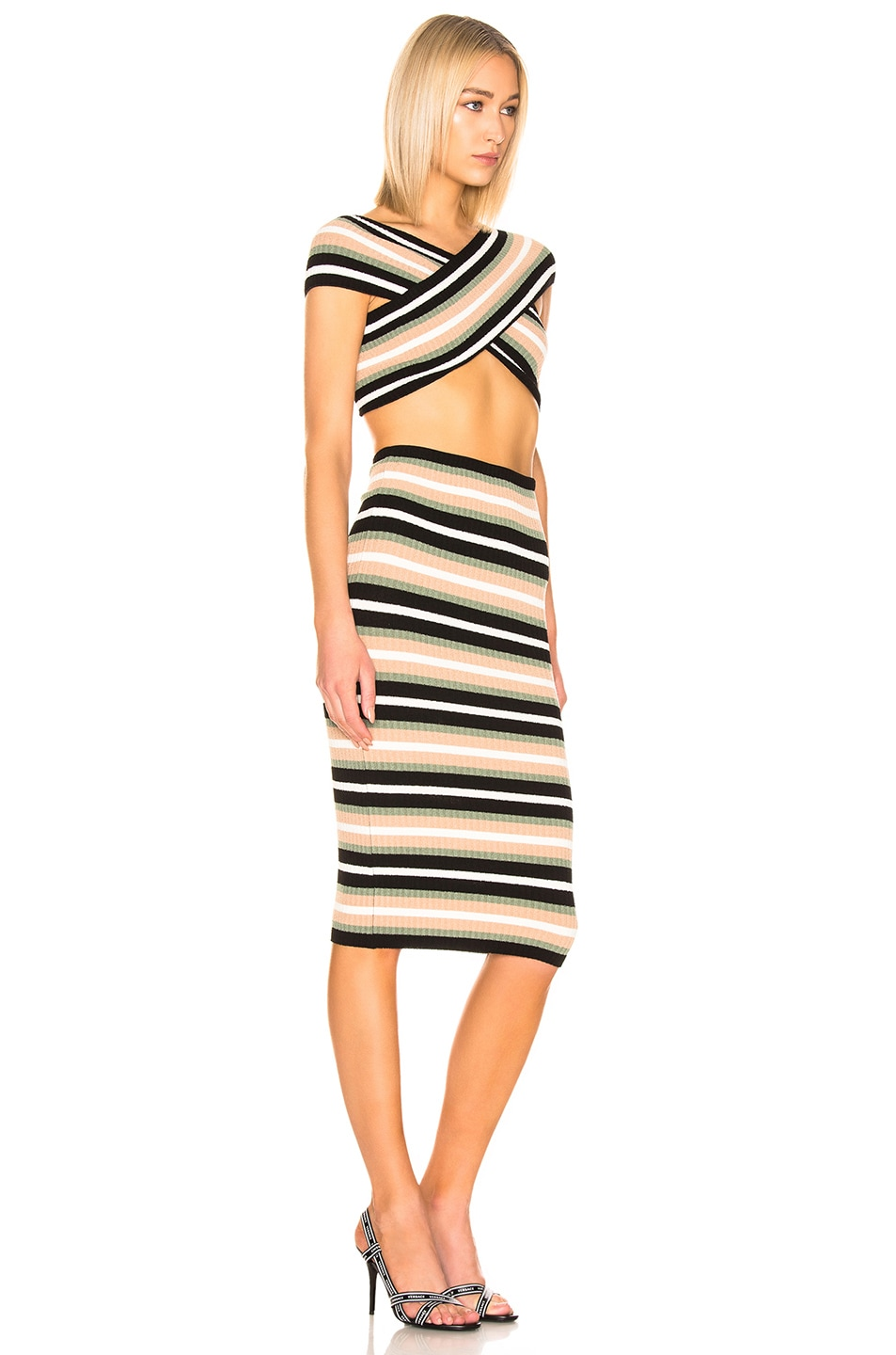 Image 3 of OFF-WHITE Criss Cross Knit Dress in Multi