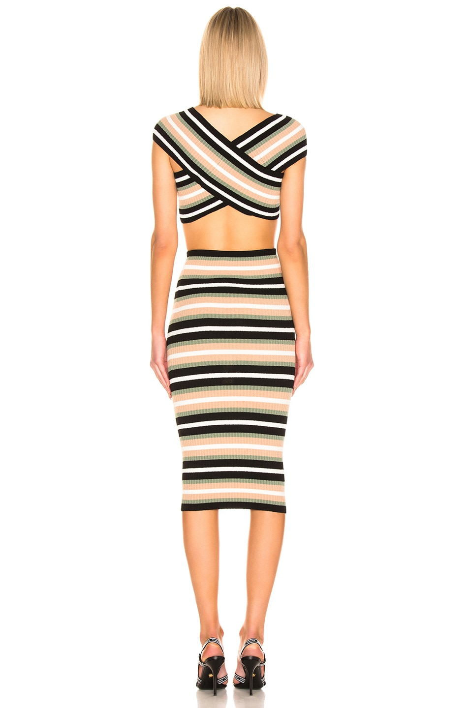 Image 4 of OFF-WHITE Criss Cross Knit Dress in Multi