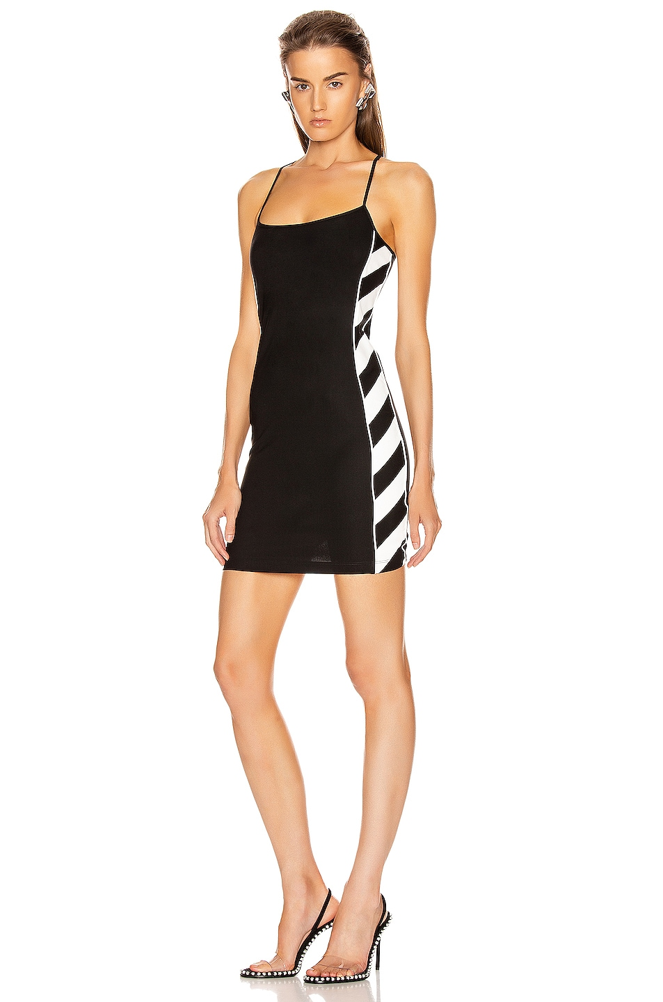 Image 1 of OFF-WHITE Diagonal Athletic Dress in Black & White