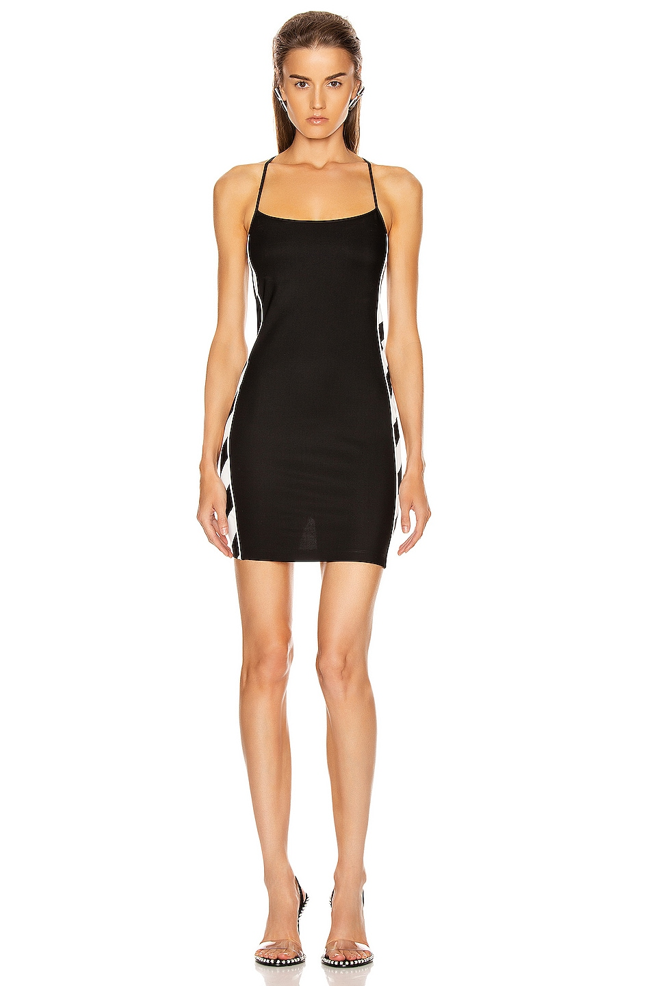 Image 2 of OFF-WHITE Diagonal Athletic Dress in Black & White