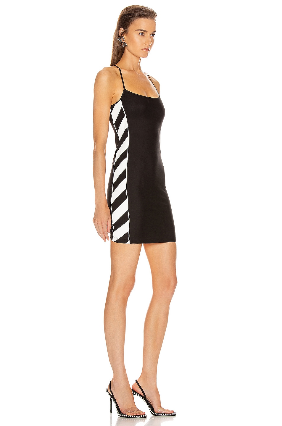 Image 3 of OFF-WHITE Diagonal Athletic Dress in Black & White