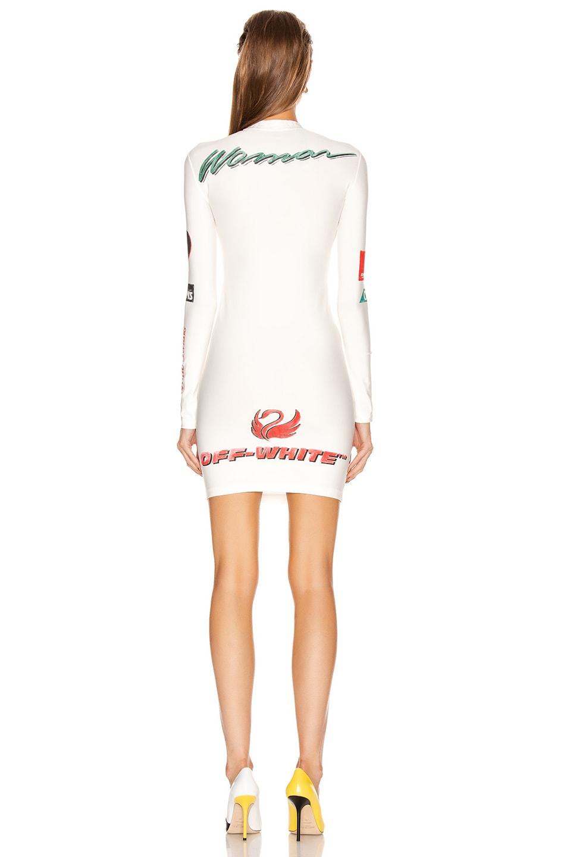 Image 4 of OFF-WHITE Multi Logo Sporty Dress in White Multicolor