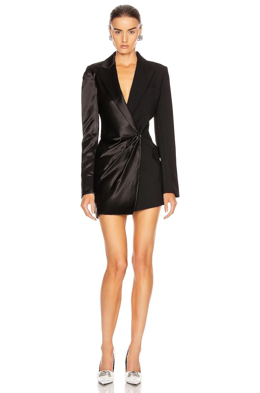 Image 1 of OFF-WHITE Formal Collage Jacket Dress in Black