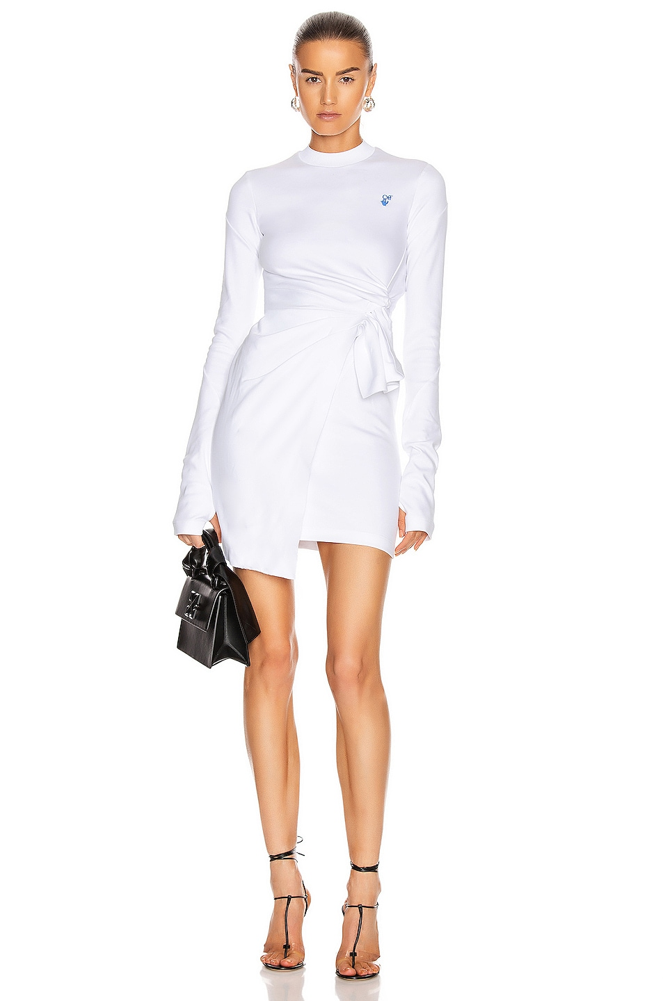 Image 1 of OFF-WHITE Mariacarla Wrap Dress in White