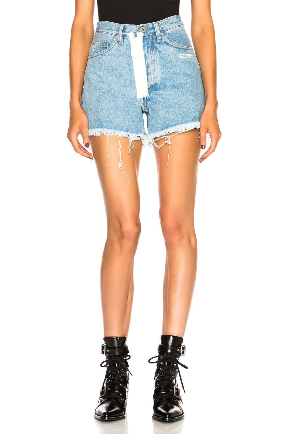 Image 1 of OFF-WHITE Embellished Short in Medium Blue