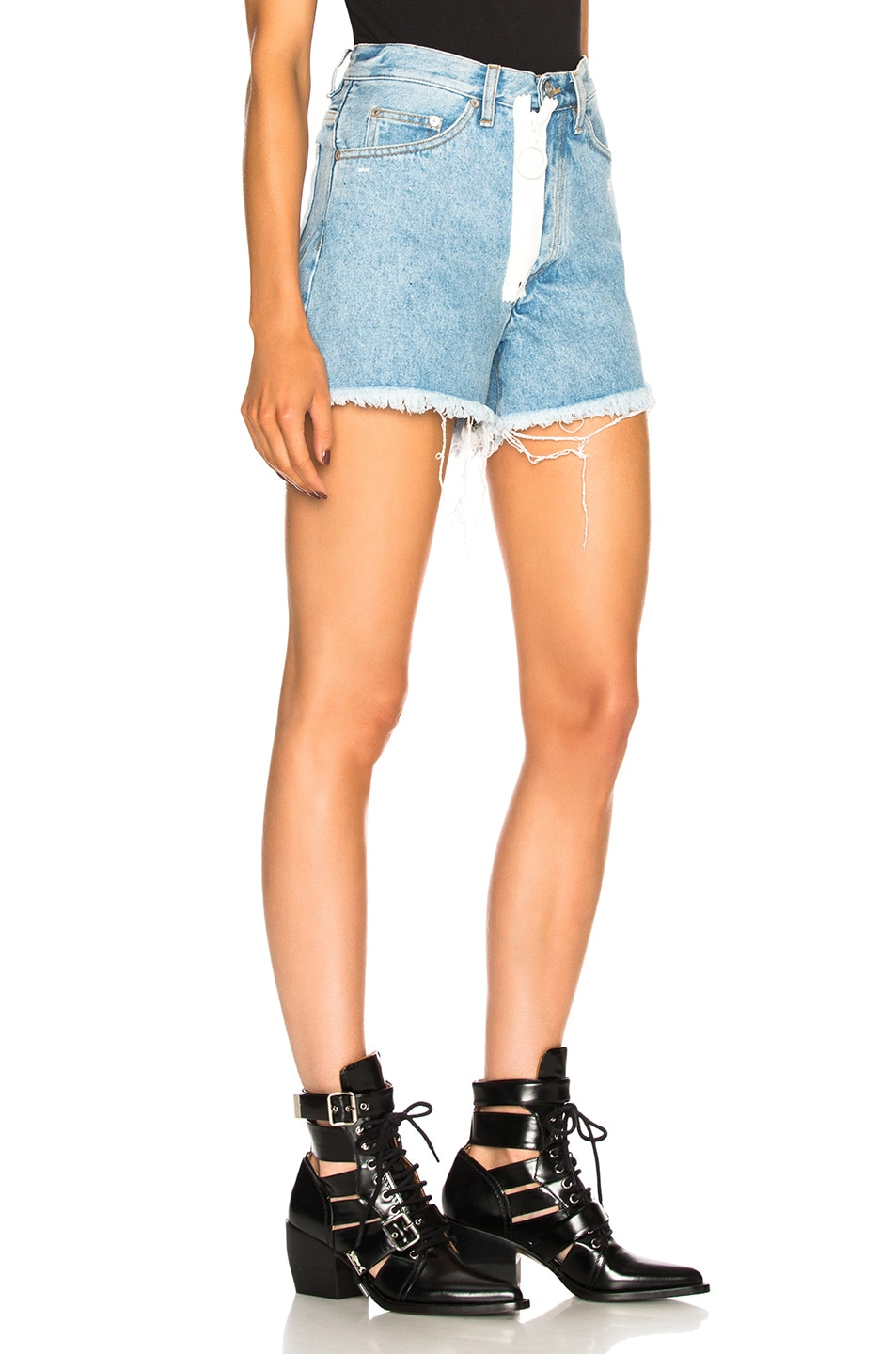 Image 2 of OFF-WHITE Embellished Short in Medium Blue
