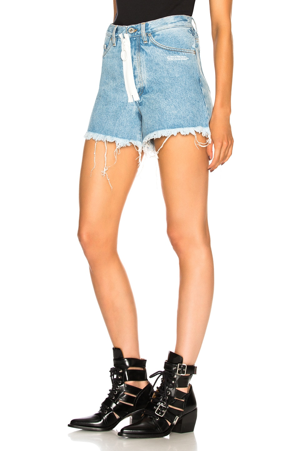 Image 3 of OFF-WHITE Embellished Short in Medium Blue