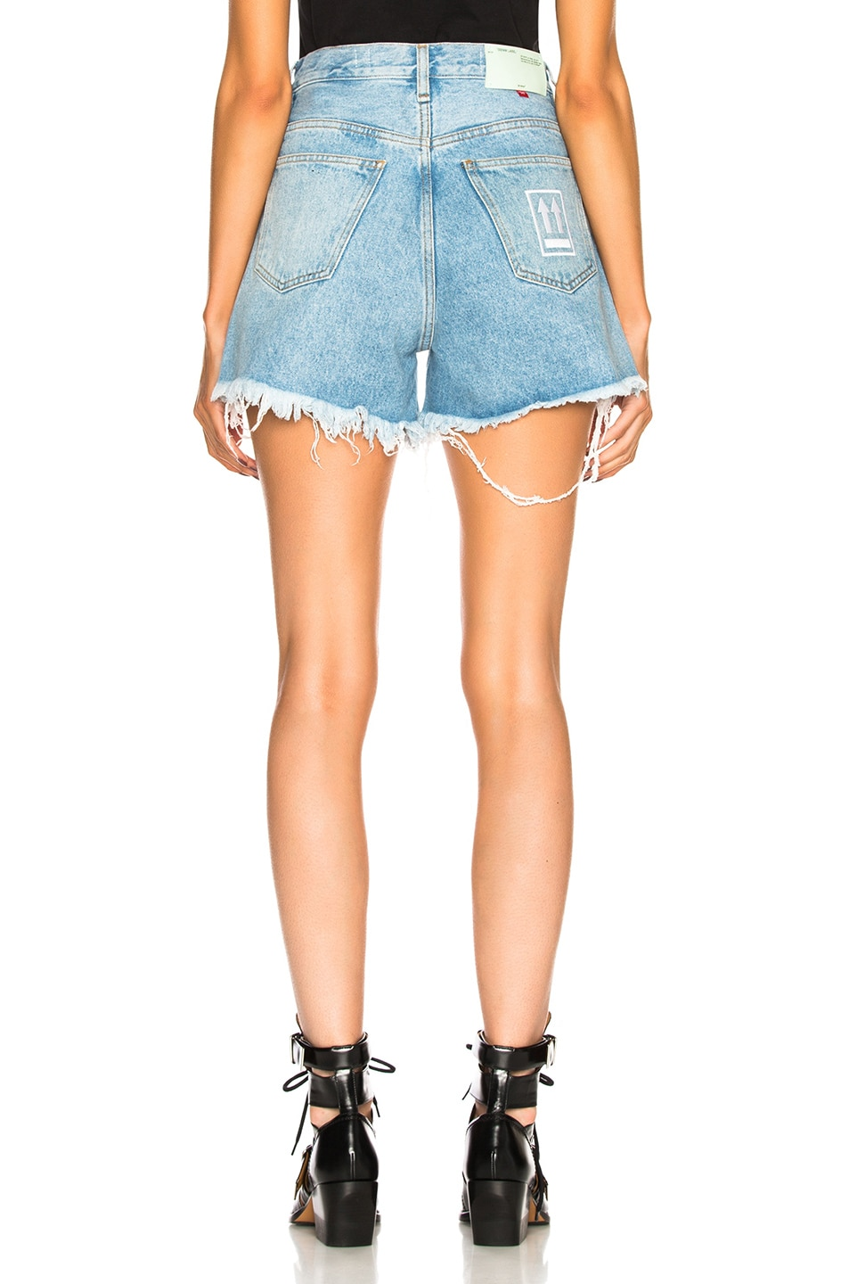 Image 4 of OFF-WHITE Embellished Short in Medium Blue