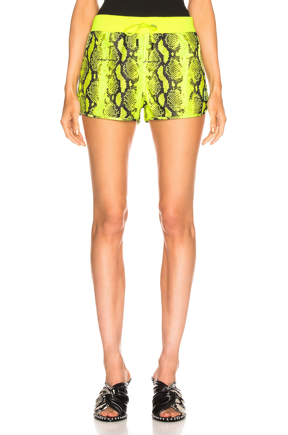 Image 1 of OFF-WHITE Python Sporty Short in Fluo Yellow