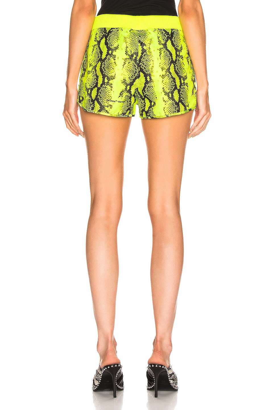 Image 4 of OFF-WHITE Python Sporty Short in Fluo Yellow