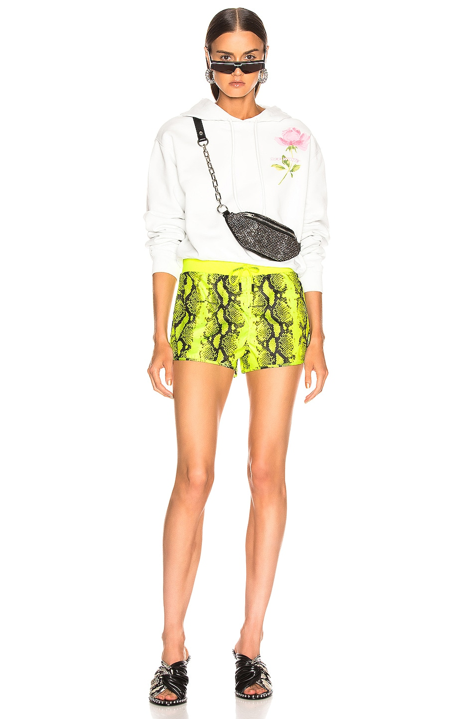 Image 5 of OFF-WHITE Python Sporty Short in Fluo Yellow