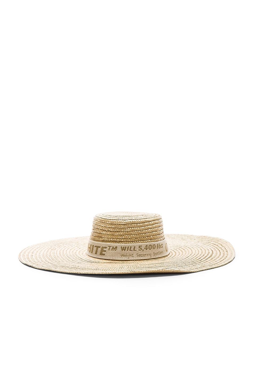 Image 3 of OFF-WHITE Straw Hat in Beige & Beige
