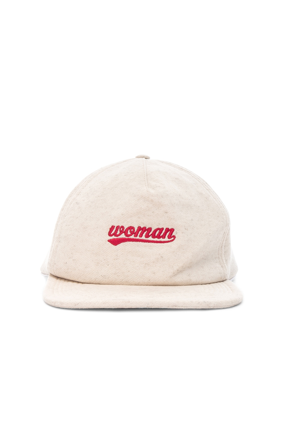 Image 1 of OFF-WHITE Woman Logo Cap in Beige & Red
