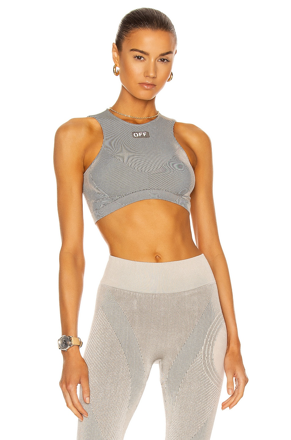 Image 1 of OFF-WHITE Meteor Seamless Bra in Grey