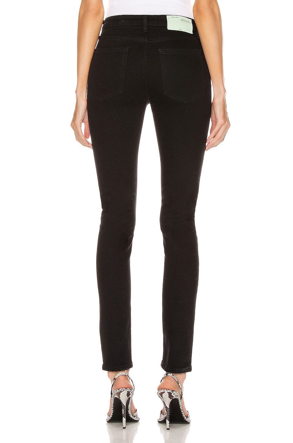 Image 4 of OFF-WHITE Skinny Leg in Vintage Black