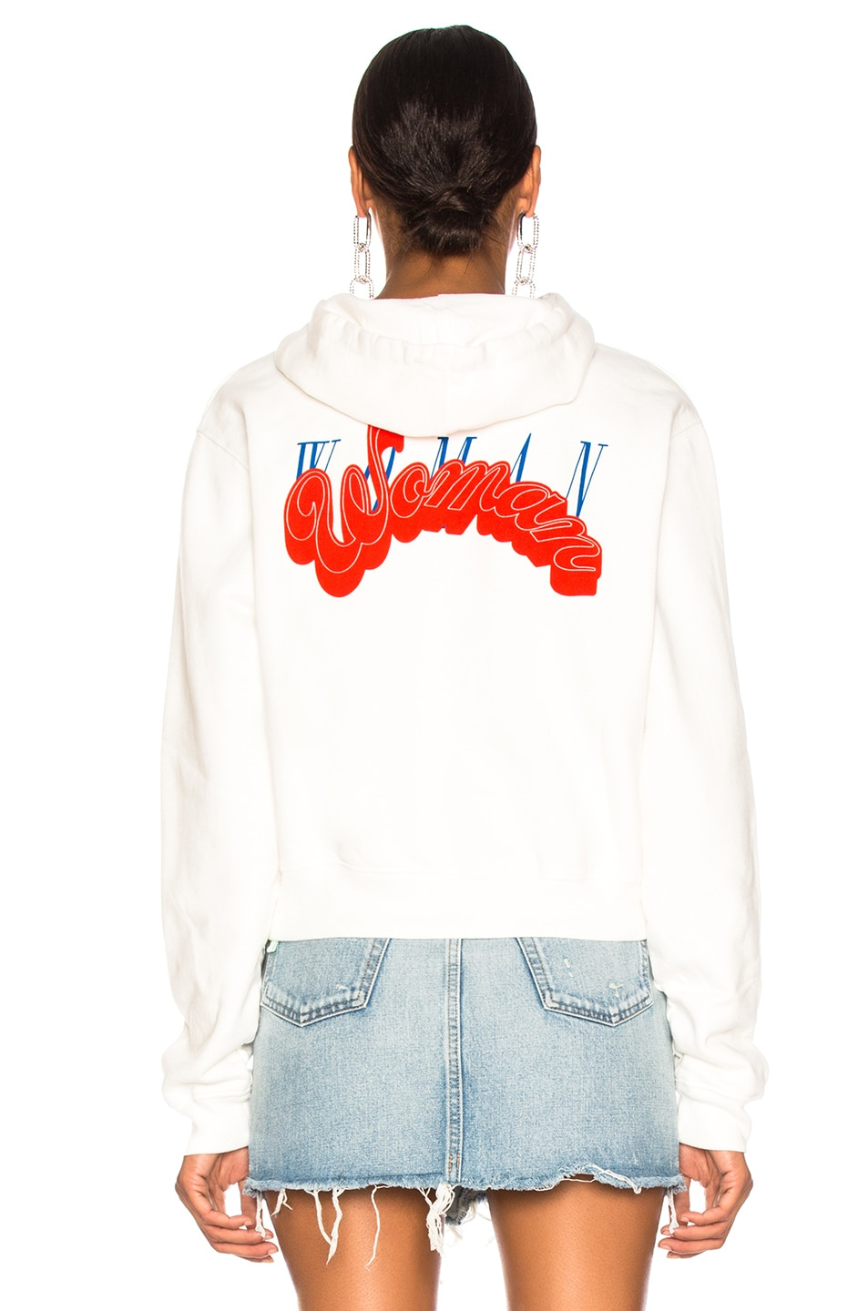 Image 4 of OFF-WHITE Heart Not Troubled Hoodie in White & Red