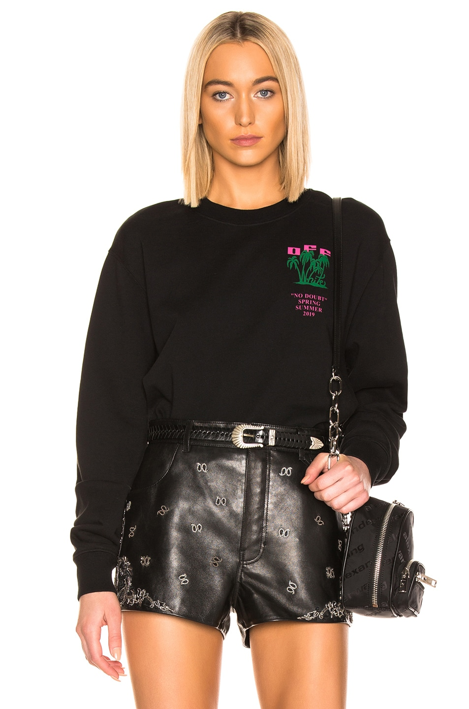 Image 2 of OFF-WHITE Island Crop Sweater in Black