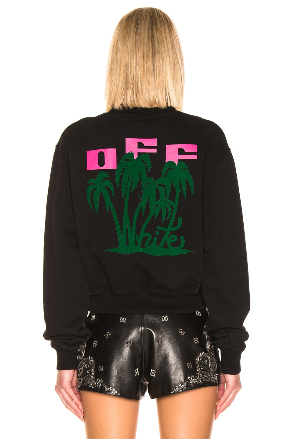 Image 4 of OFF-WHITE Island Crop Sweater in Black