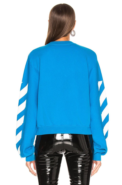 Image 4 of OFF-WHITE Diagonal Sweatshirt in Blue & White