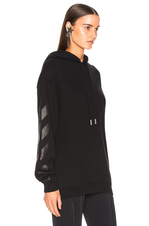 Image 2 of OFF-WHITE Diagonal Long Hoodie in Black
