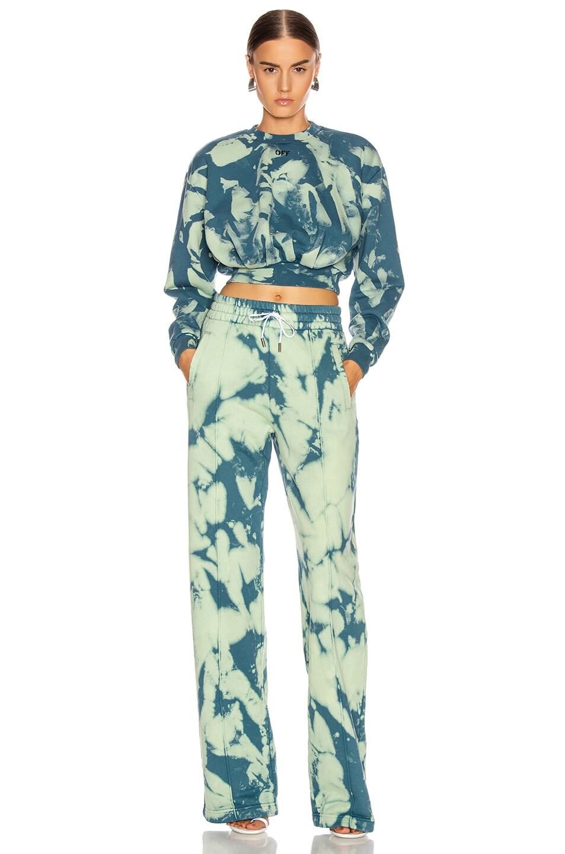 Image 4 of OFF-WHITE Tie Dye Extra Crop Sweatshirt in Gasoline