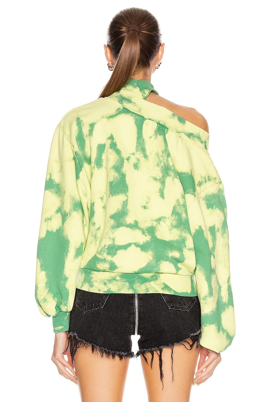 Image 4 of OFF-WHITE Tie Dye Trashed Sweatshirt in Light Green