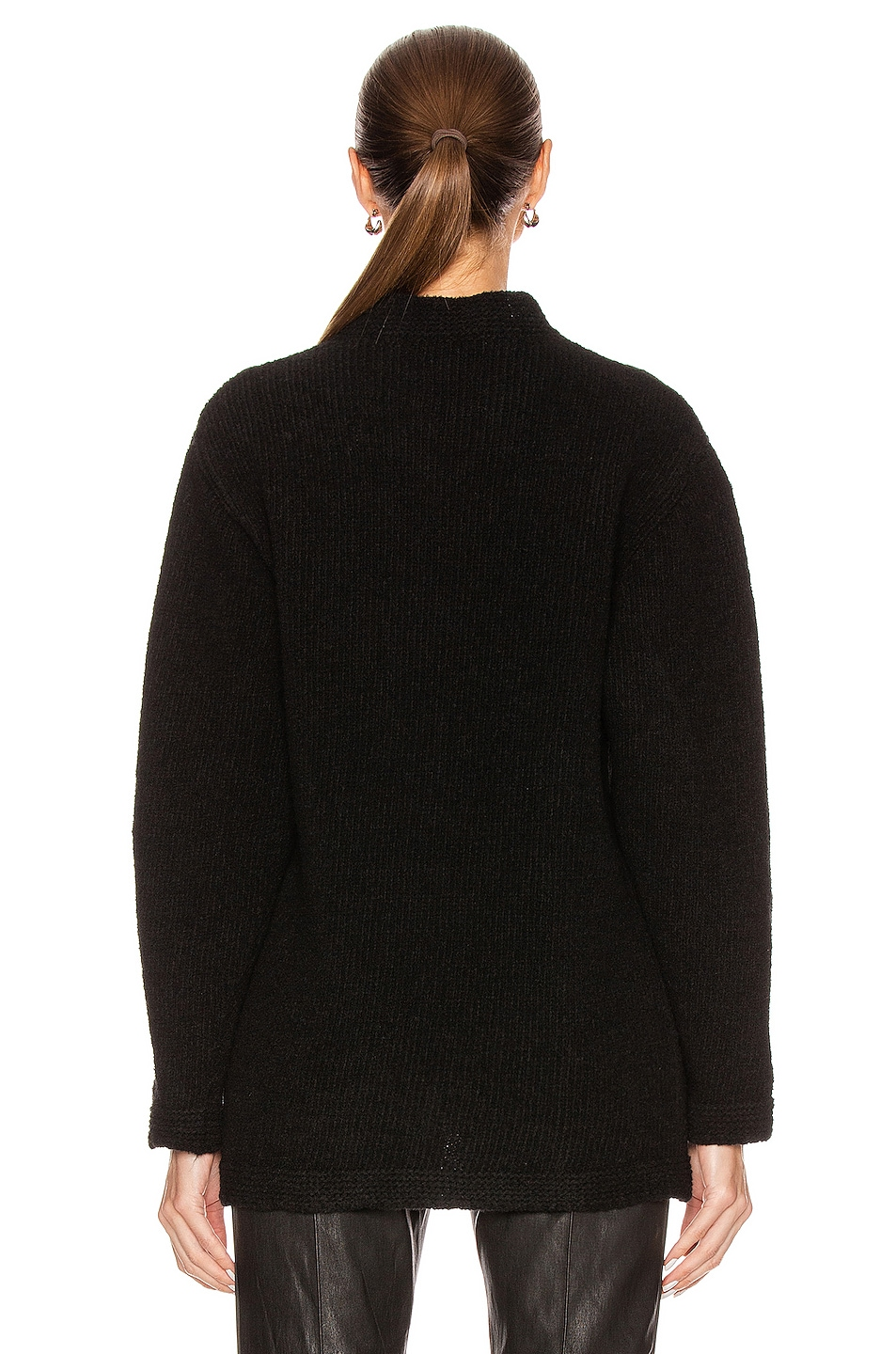Image 3 of OFF-WHITE OW Knit Oversize Sweater in Black & White