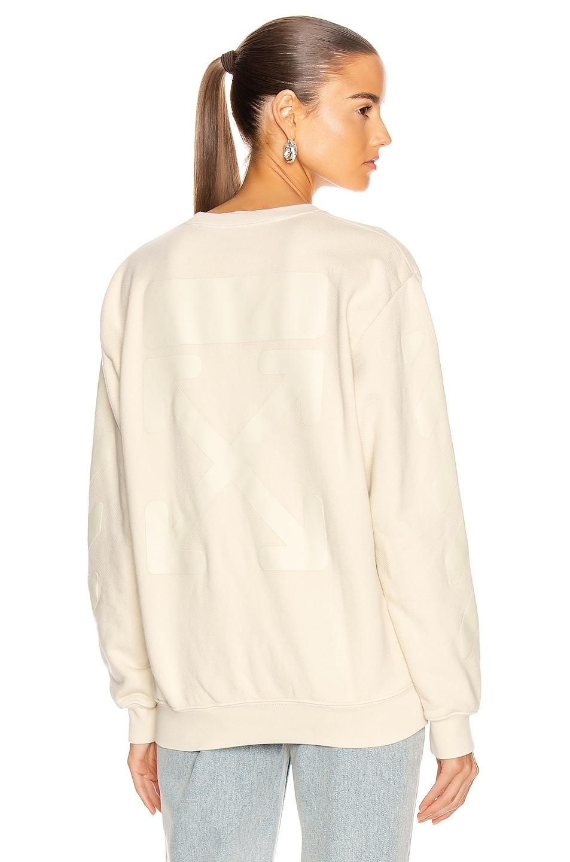 Image 1 of OFF-WHITE Diag Oversize Crewneck Sweater in Ecru