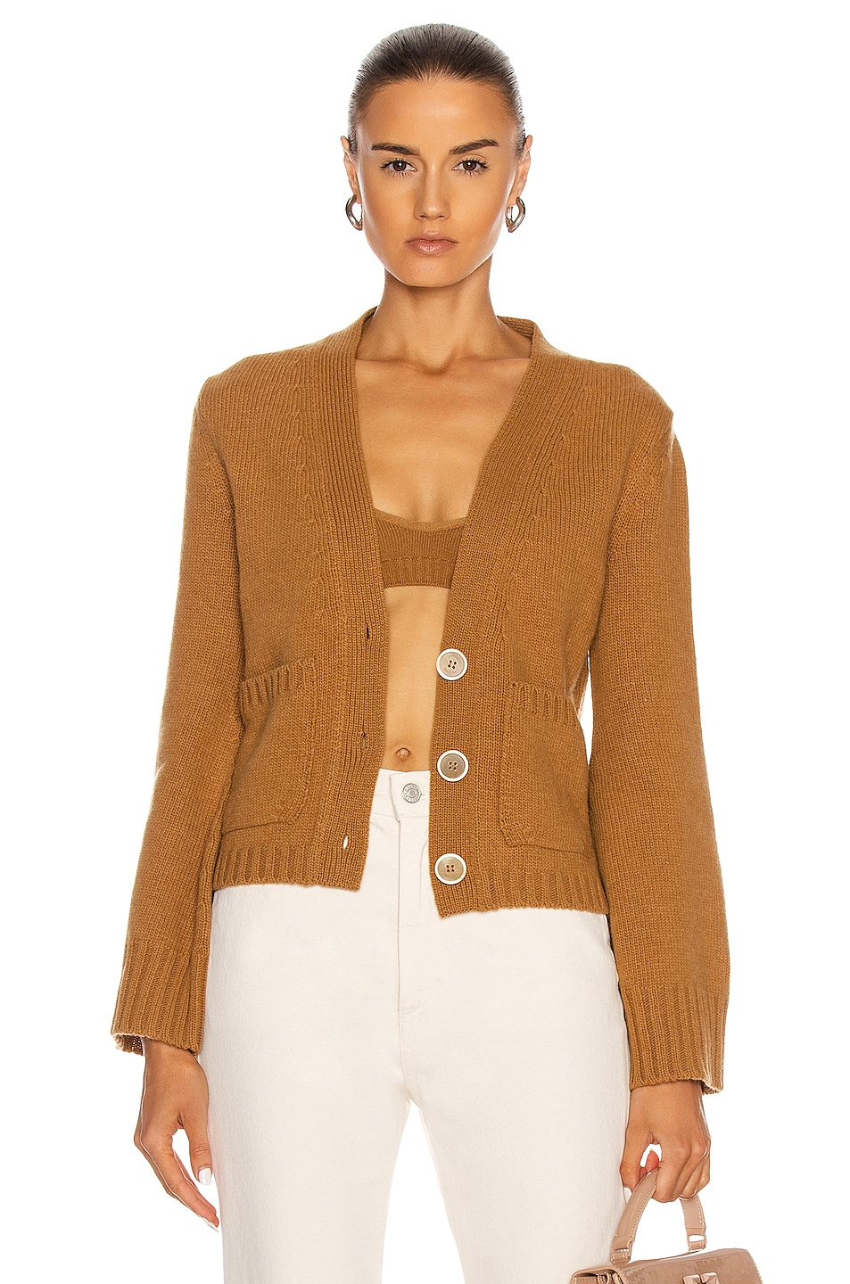Image 1 of OFF-WHITE Twin Set Cardigan in Camel