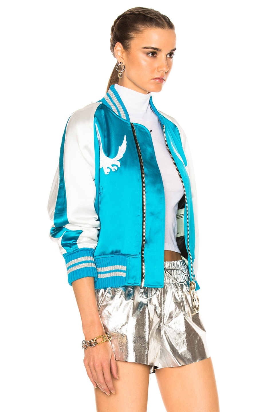 Image 5 of OFF-WHITE Souvenir Jacket in Blue & White