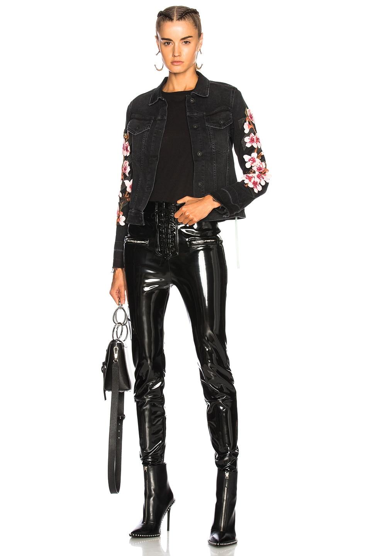 Image 4 of OFF-WHITE Cherry Blossom Diagonal Denim Jacket in Vintage Black