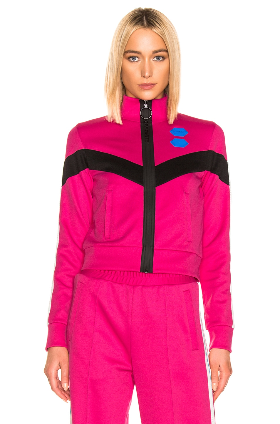 Image 2 of OFF-WHITE Gym Track Jacket in Fuchsia