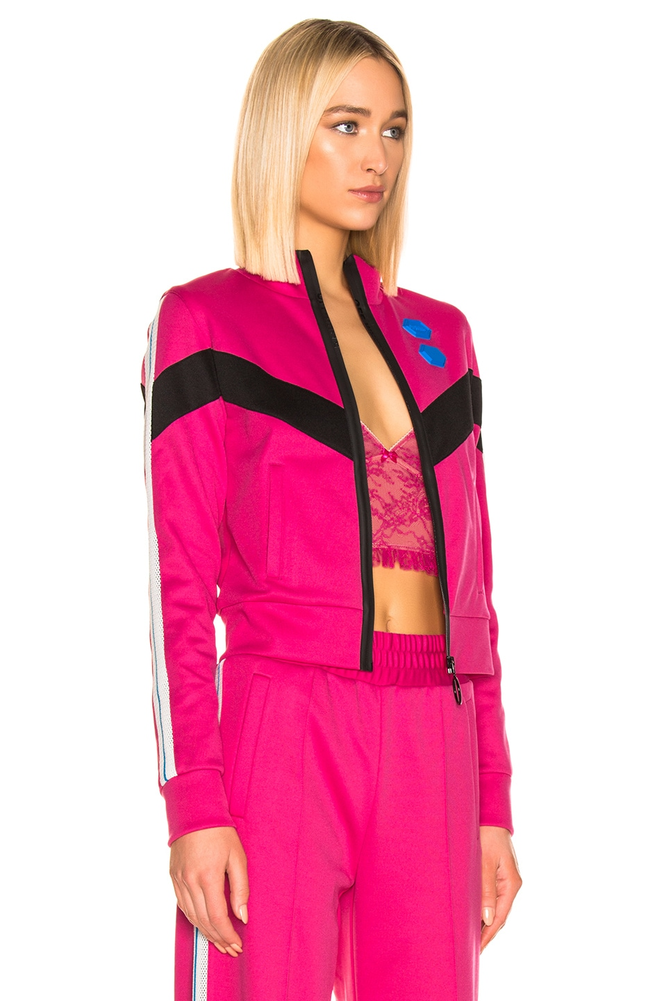 Image 3 of OFF-WHITE Gym Track Jacket in Fuchsia