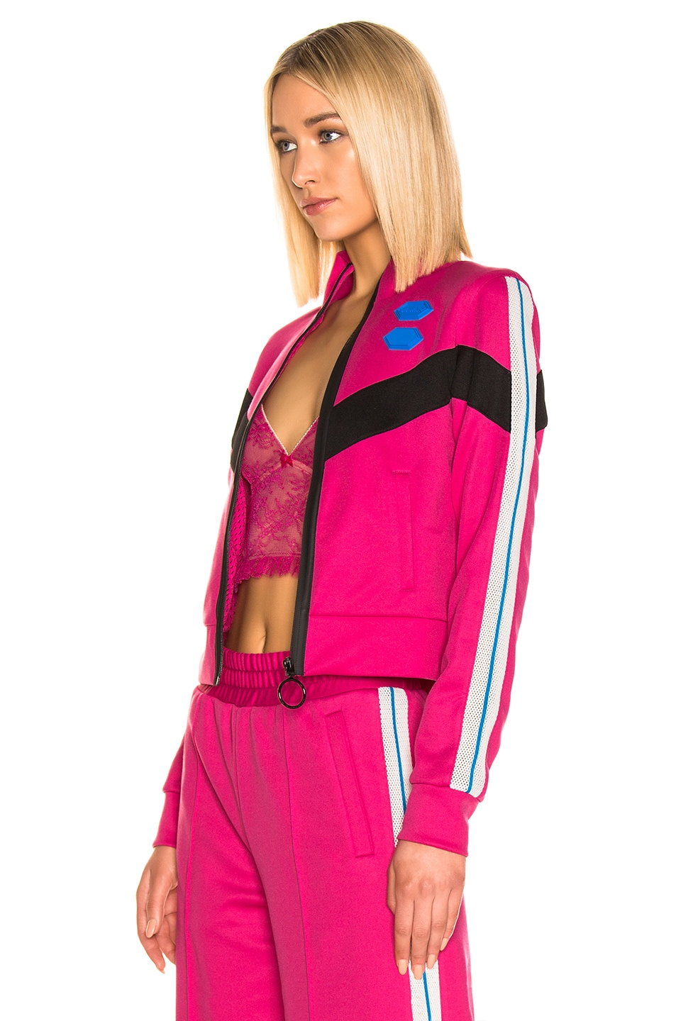 Image 4 of OFF-WHITE Gym Track Jacket in Fuchsia
