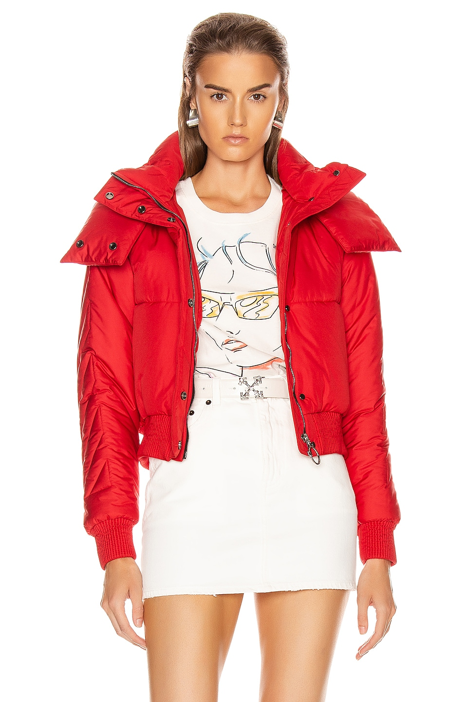 Image 1 of OFF-WHITE Down Jacket in Red