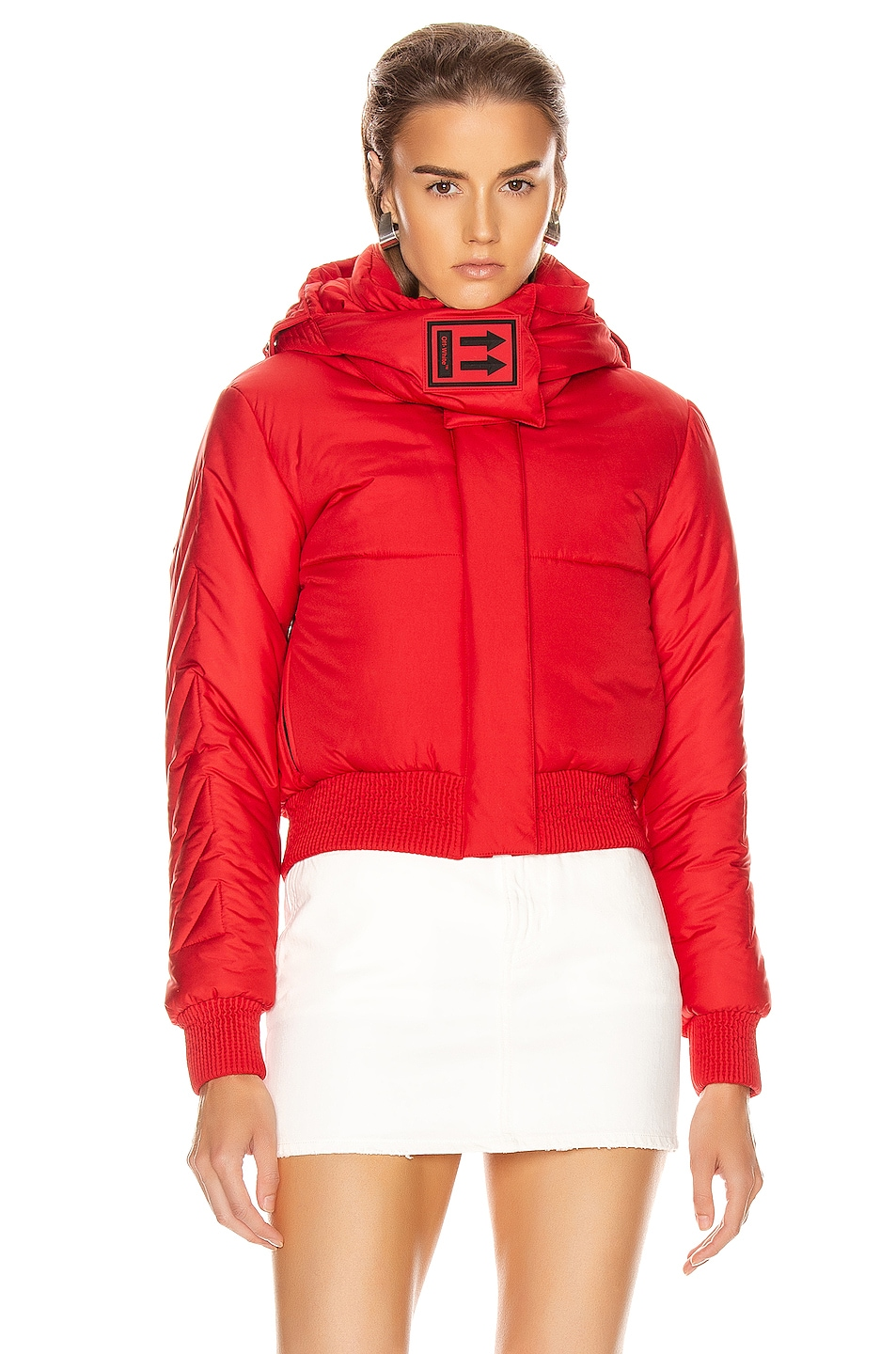 Image 2 of OFF-WHITE Down Jacket in Red