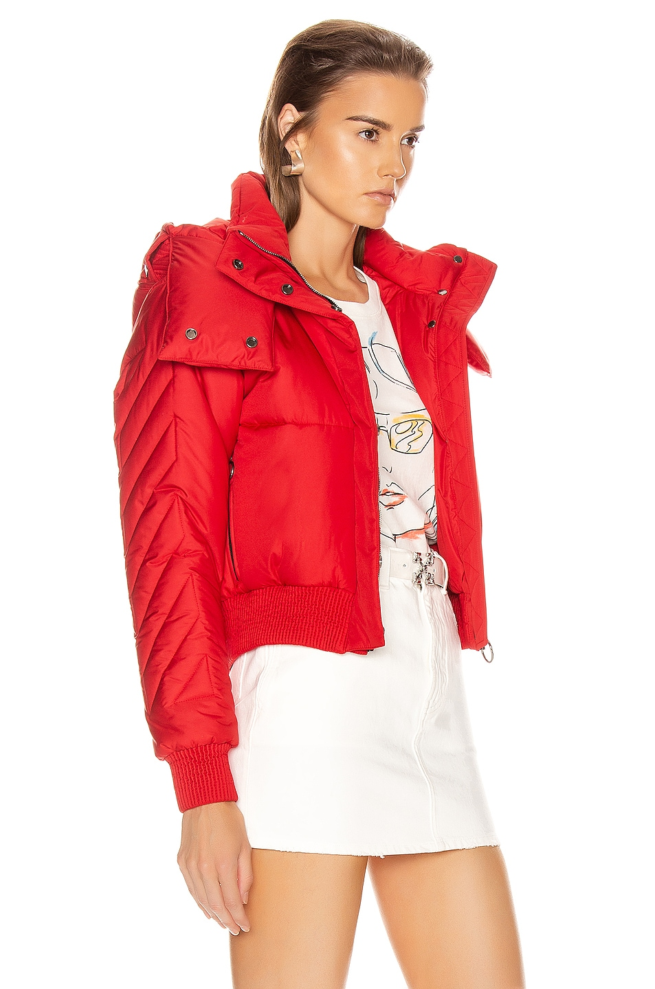 Image 3 of OFF-WHITE Down Jacket in Red