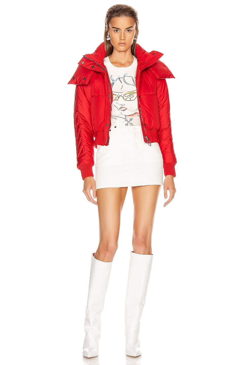Image 5 of OFF-WHITE Down Jacket in Red
