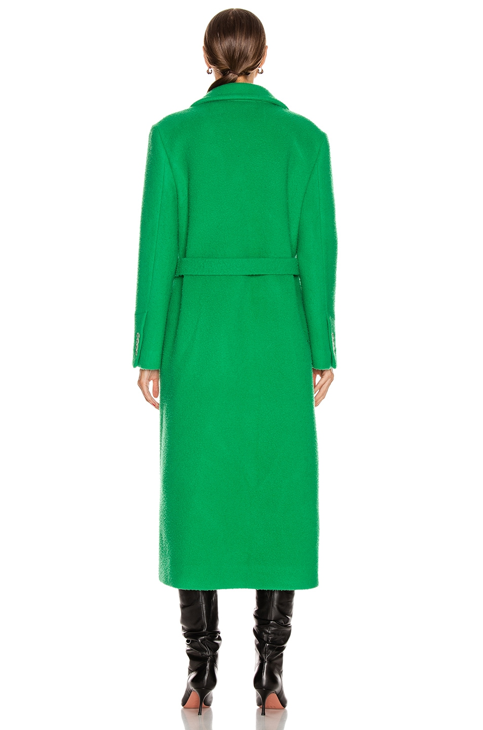 Image 4 of OFF-WHITE Curly Two Layer Belt Coat in Green