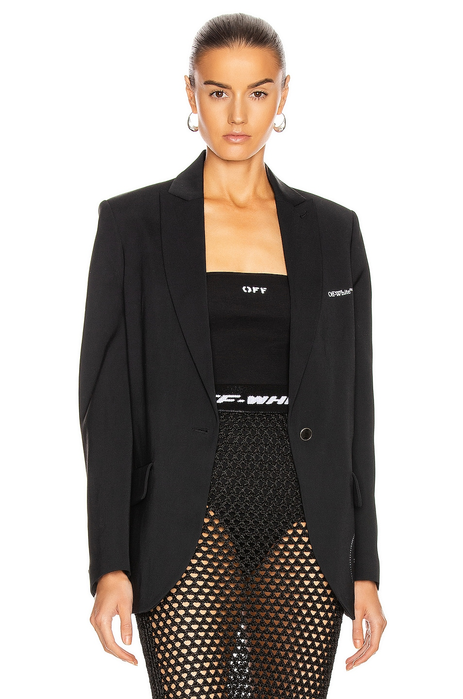 Image 1 of OFF-WHITE Gabardine Tomboy Jacket in Black