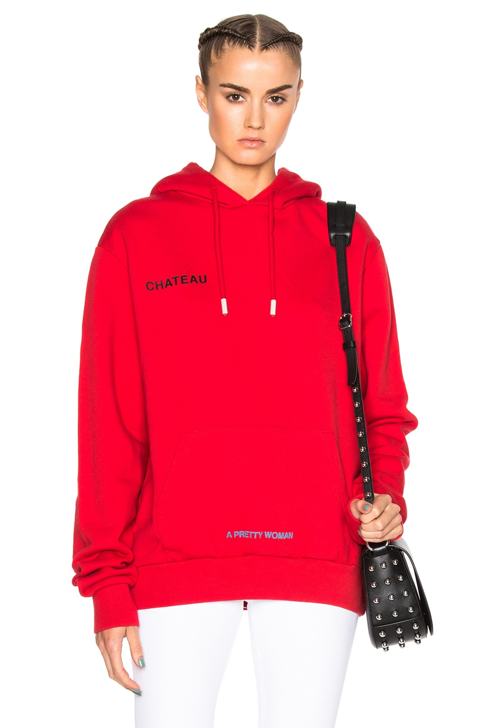 Image 1 of OFF-WHITE Chateau Hoodie in Red   Black 93e2c8bc7