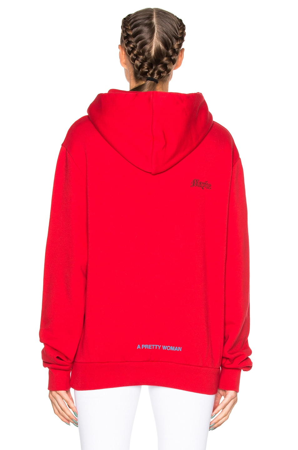 27cbeee7b754 Image 4 of OFF-WHITE Chateau Hoodie in Red   Black