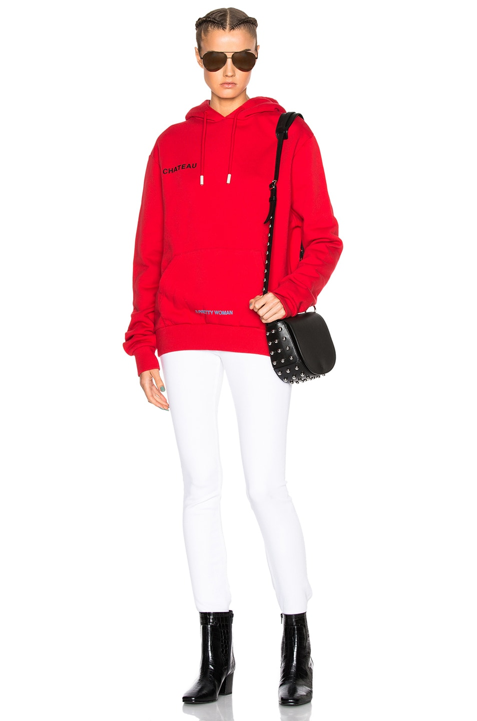 1aa44c77a66c Image 5 of OFF-WHITE Chateau Hoodie in Red   Black