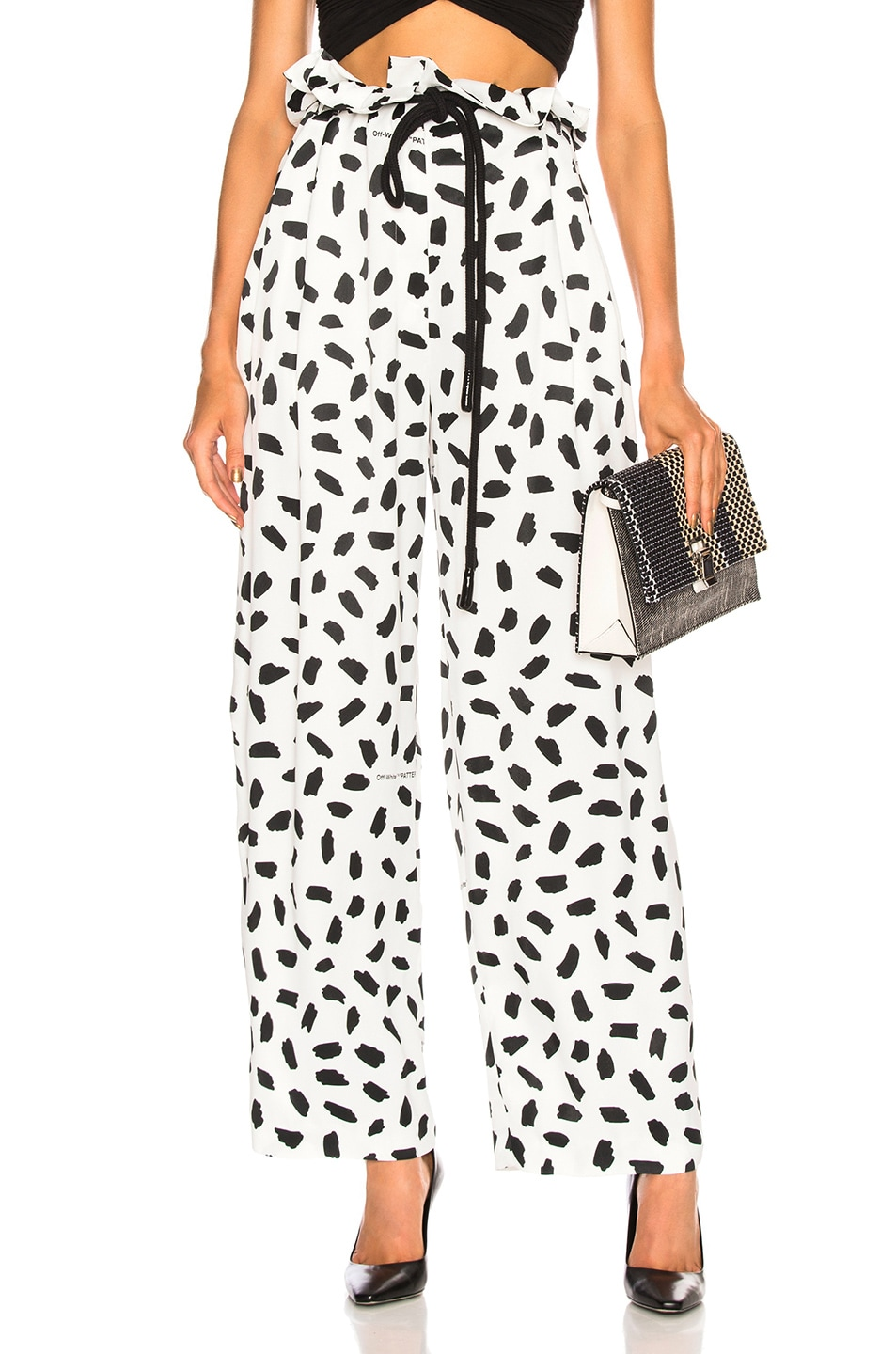 Image 1 of OFF-WHITE Poise Coulisse Pant in Black & White