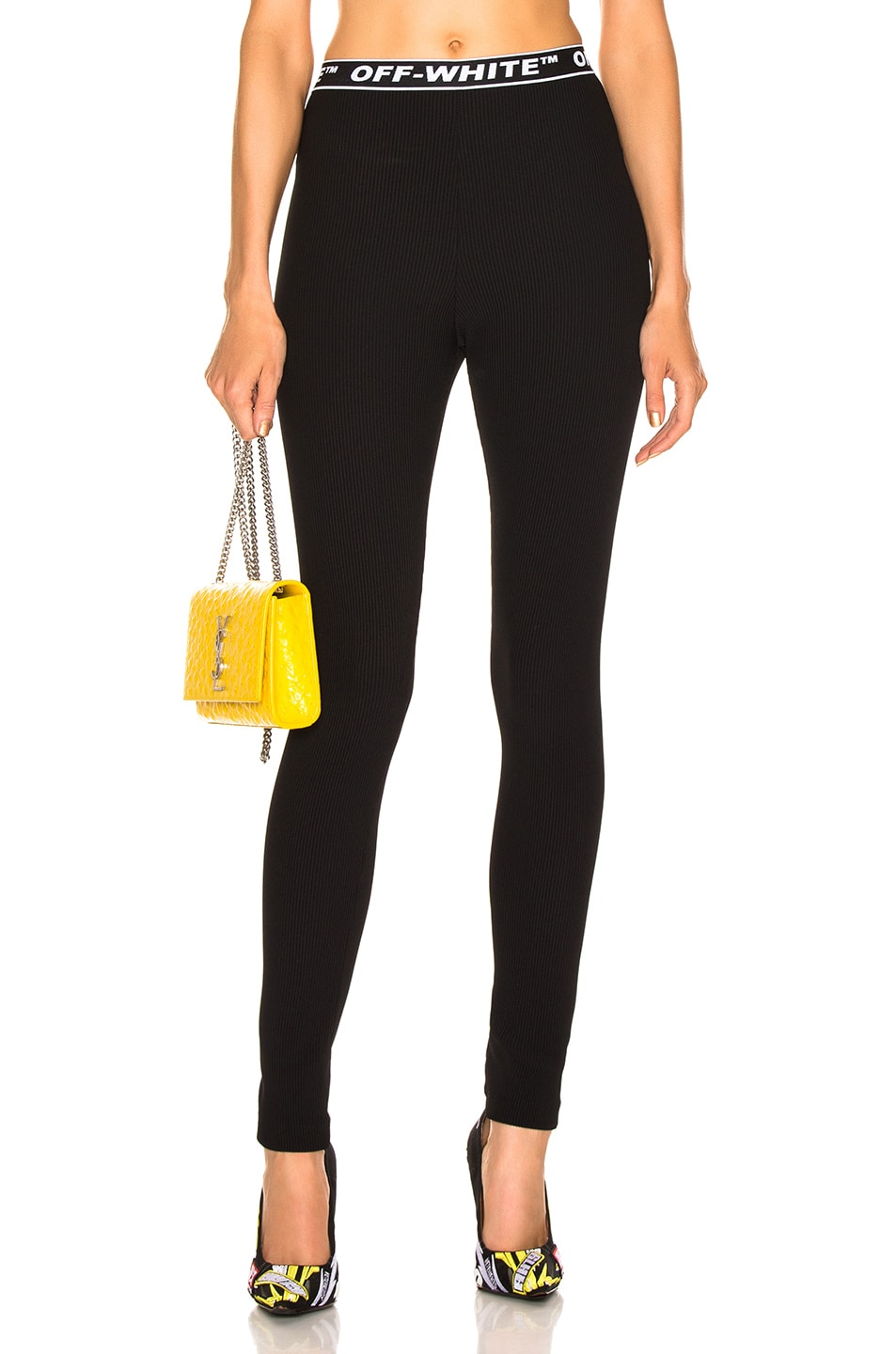 Image 1 of OFF-WHITE Cannette Simple Leggings in Black