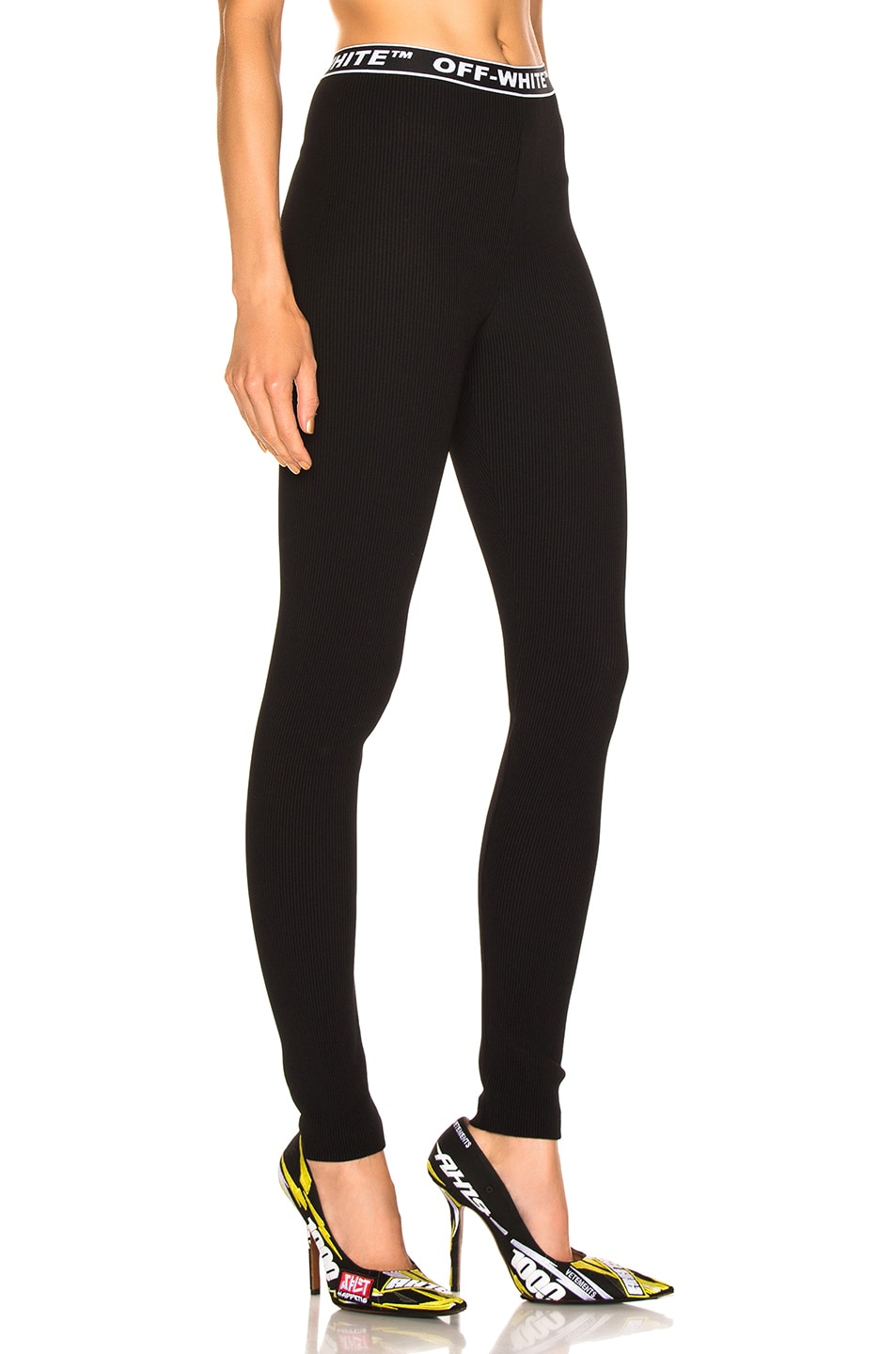 Image 2 of OFF-WHITE Cannette Simple Leggings in Black